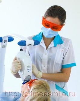 отбеливание зубов, фото зум